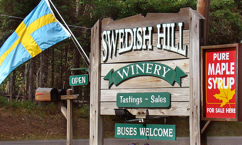 Swedish Hill Lake Placid Sign