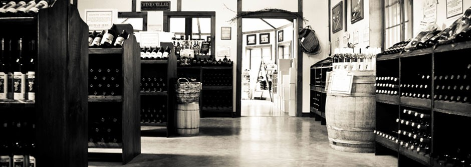 Swedish Hill Tasting Room BW