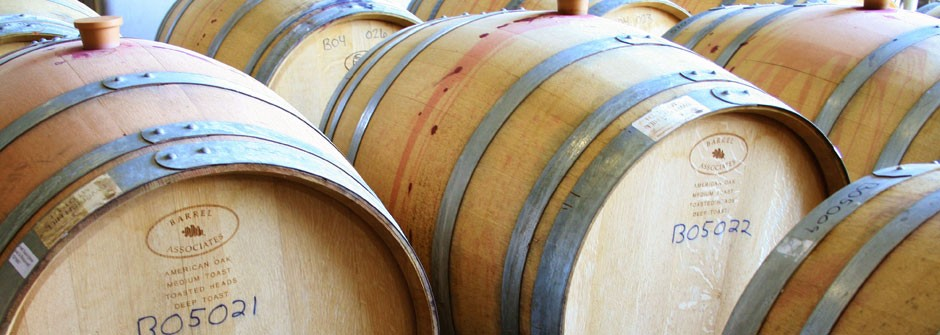 Swedish Hill wine barrels