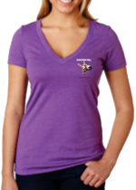 Women's Jack Ass V-neck shirts