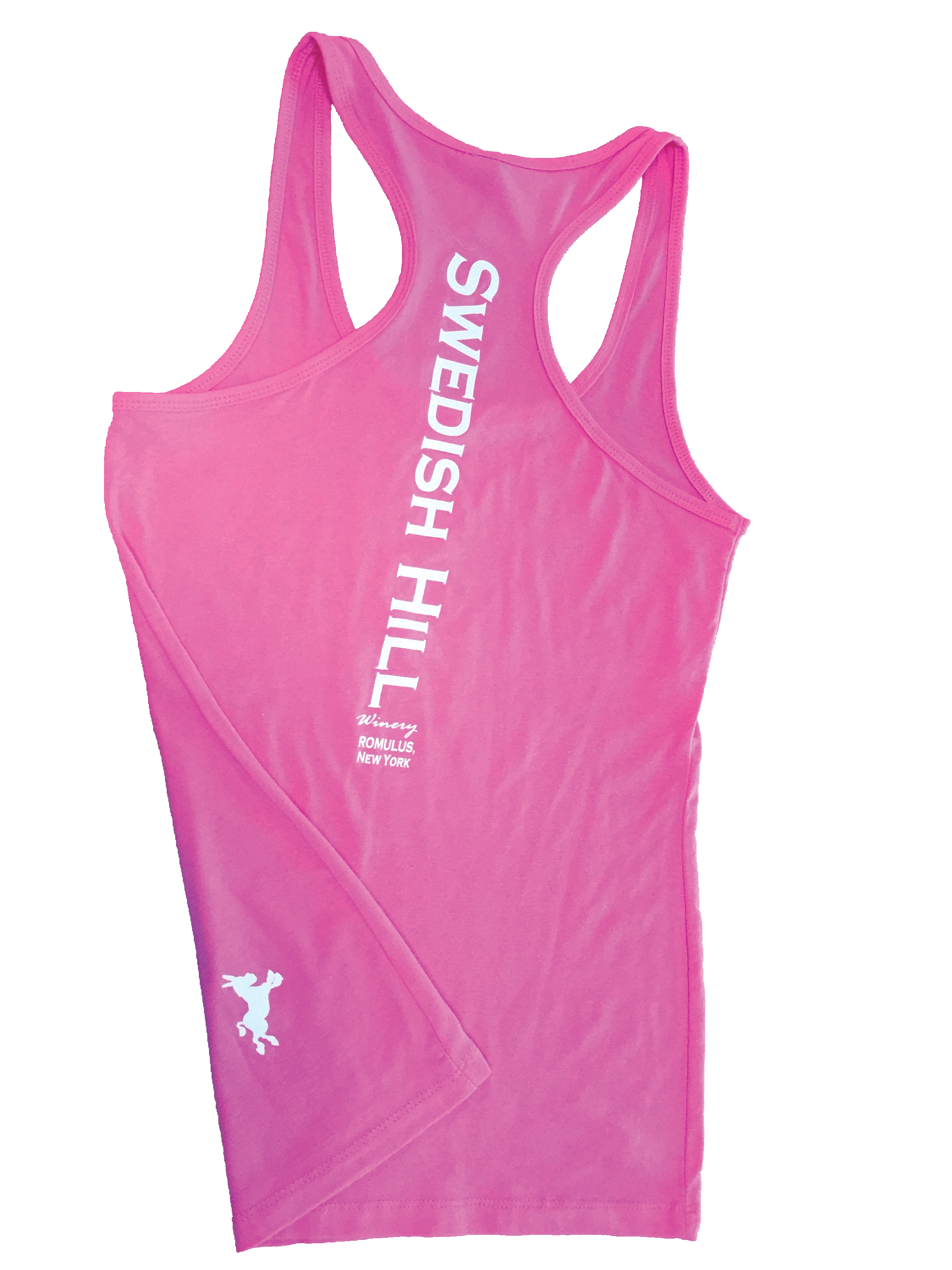 52e787295d6665 Swedish Hill Logo Tank Tops – Available in pink (shown)