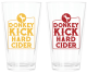 Donkey Kick Hard Cider Pint Glasses