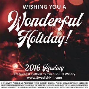 Wishing you a Wonderful Holiday Label